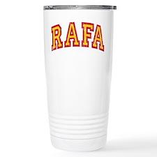 Rafa Red & Yellow Travel Coffee Mug