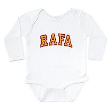 Rafa Red & Yellow Long Sleeve Infant Bodysuit