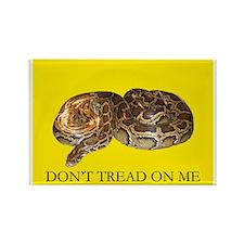 Don't Tread On Me Burmese Python Rectangle Magnet