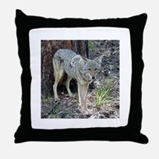 Coyote #855 Throw Pillow