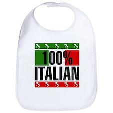 100% Percent Italian Bib