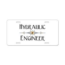 Hydraulic Engineer Line Aluminum License Plate