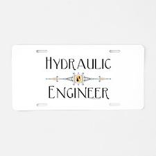 Hydraulic Engineer Line Aluminum License Plate