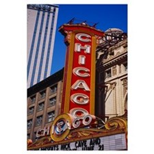 Low angle view of a movie theater, Chicago Theatre