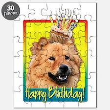 Birthday Cupcake - Chow Puzzle