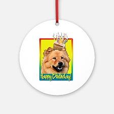 Birthday Cupcake - Chow Ornament (Round)