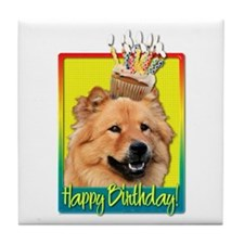 Birthday Cupcake - Chow Tile Coaster
