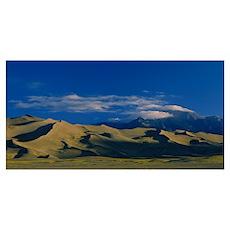 Sand dunes in the desert, Great Sand Dunes Nationa Poster