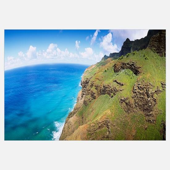 Aerial view of the coast, Na Pali Coast, Kauai, Ha