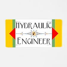 Hydraulic Engineer Block Aluminum License Plate