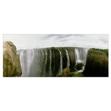 Water falling into a river, Victoria Falls, Zimbab Canvas Art