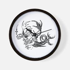 Durer Mermaid Wall Clock