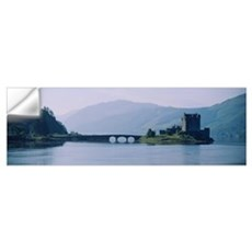 Castle at the lakeside, Eilean Donan Castle, Loch  Wall Decal