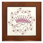 Girlie Princess Crown Framed Tile