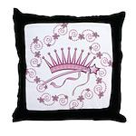 Girlie Princess Crown Throw Pillow