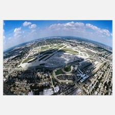 Aerial view of an airport, Midway Airport, Chicago