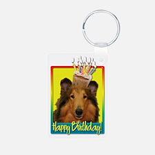 Birthday Cupcake - Collie Keychains