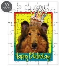 Birthday Cupcake - Collie Puzzle