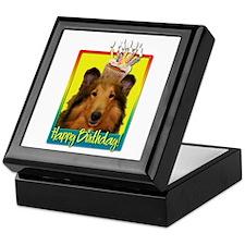 Birthday Cupcake - Collie Keepsake Box