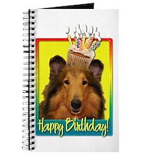 Birthday Cupcake - Collie Journal