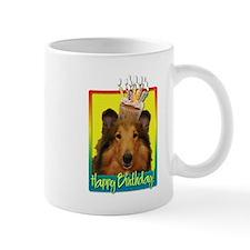 Birthday Cupcake - Collie Small Mug
