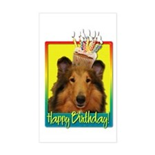 Birthday Cupcake - Collie Decal