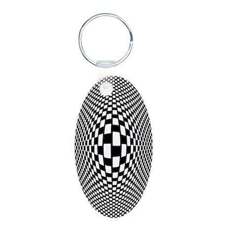 Bulge Aluminum Oval Keychain
