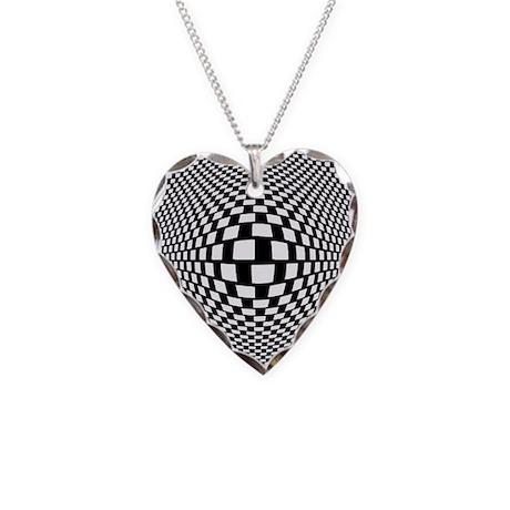 Bulge Necklace Heart Charm