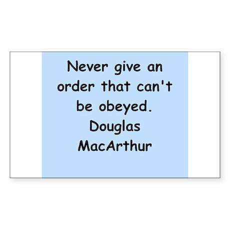 douglas macarthur Sticker (Rectangle 50 pk)