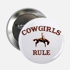 cowgirls rule Button