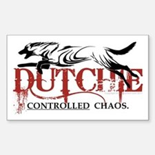 Dutch Shepherd - NEW! Sticker (Rectangle)