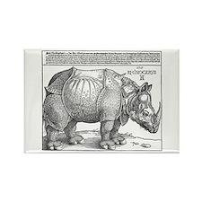 Durer Rhino Rectangle Magnet