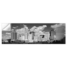 Clouds over skyscrapers in a city, Charlotte, Nort Wall Decal