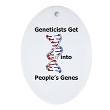 Designer Genes Oval Ornament