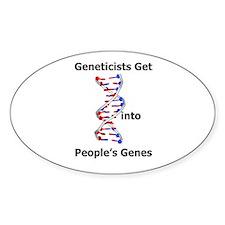 Designer Genes Oval Decal