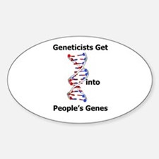 Designer Genes Oval Decal