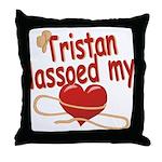 Tristan Lassoed My Heart Throw Pillow
