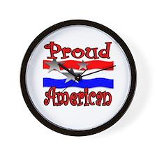 Proud American #2 Wall Clock