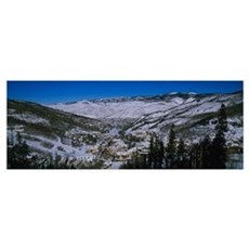 High angle view of a ski resort, Beaver Creek Reso Poster