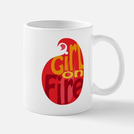 Girl On Fire Flame Mug