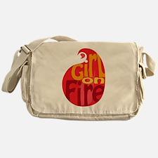 Girl On Fire Flame Messenger Bag