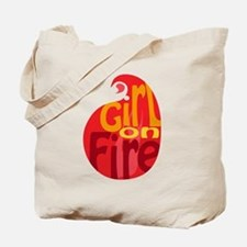 Girl On Fire Flame Tote Bag