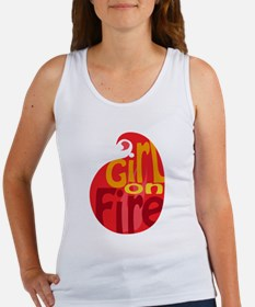 Girl On Fire Flame Women's Tank Top