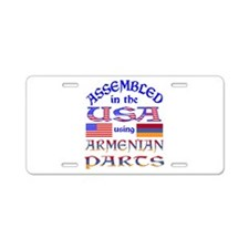 USA / Armenian Parts Aluminum License Plate
