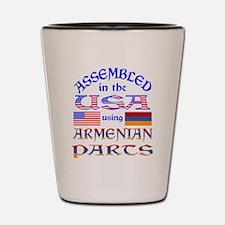 USA / Armenian Parts Shot Glass