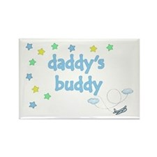 Daddy's Buddy Star Pilot Rectangle Magnet
