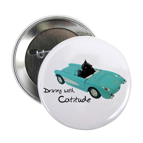 "Driving with Catitude 2.25"" Button (10 pack)"