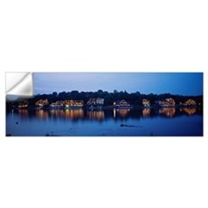 Boathouse Row lit up at dusk, Philadelphia, Pennsy Wall Decal