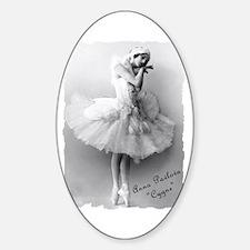 """Anna Pavlova, """"Cygne"""" Oval Decal"""