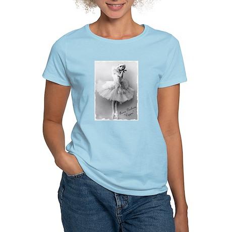 "Anna Pavlova, ""Cygne"" Women's Pink T-Shirt"
